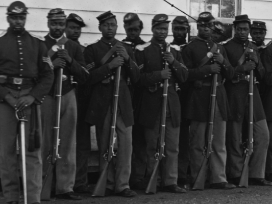 Company E, 4th U.S. Colored Infantry, at Fort Lincoln